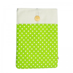 Macbook Air 13 Sleeve Green Polka Dot